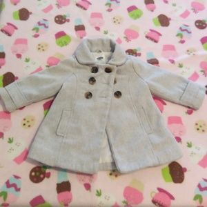 GIRL 18-24 MONTHS - LIGHT GRAY PEA COAT